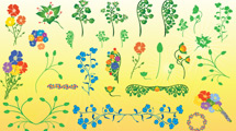 Flores de adorno pequeñas
