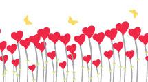 Flores de corazones para San Valetín