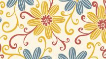 Flores en amarillo y azul