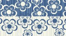 Flores en azul y tiza