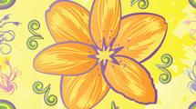Flores en colores alegres