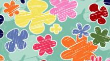 Flores en Crayones