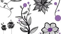 Flores en negro y violeta