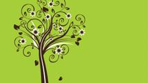 Flores en árbol