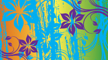 Flores grunge en varios colores