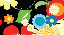 Flores multicolores
