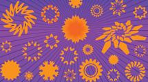 Flores naranjas abstractas