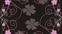 Flores rosas en marrón