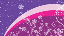 Flores sobre violeta