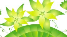 Vector Gratis De Fondo Con Flores Verdes