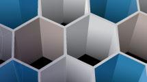 Fondo 3D con hexágonos