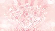 Fondo abstracto: Circulos retro rosas