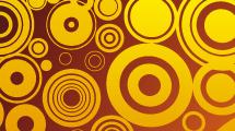 Fondo abstracto con círculos retro