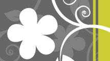 Fondo abstracto con flores blancas