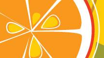 Fondo abstracto con naranjas