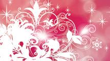 Fondo abstracto: Rosado con adornos en blanco