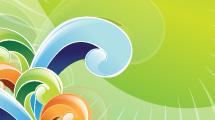 Fondo abstracto: Swirl en verde