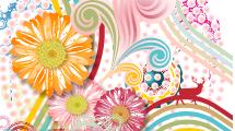 Fondo Abstractos con Flores