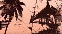 Fondo: barco pirata