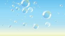 Fondo bicolor con burbujas