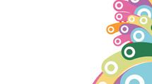 Fondo blanco con círculos de colores