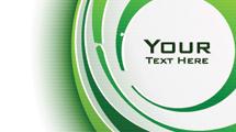 Fondo blanco con formas circulares en tonos verdes y espacio para texto