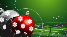 Fondo con Adornos de Navidad
