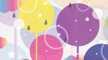 Fondo con arboles abstractos