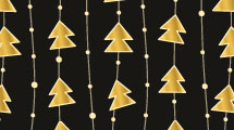 Fondo con colgantes de Navidad