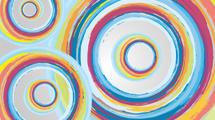 Fondo con círculos de colores