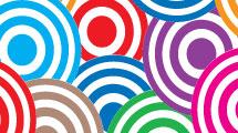 Fondo con círculos superpuestos