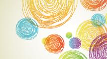 Fondo con dibujos a lápiz de colores