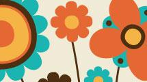 Fondo con flores abstractas