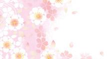Fondo con flores color rosa