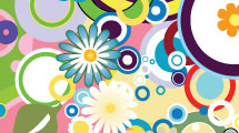 Fondo con flores multicolores