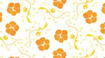 Fondo con flores naranjas de a tres