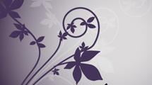 Fondo con flores violetas