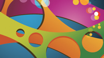 Fondo con formas de colores abstractas