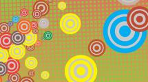 Fondo con grupos de círculos de varios colores