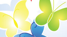 Fondo con mariposas multicolores