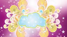 Fondo con nube y formas