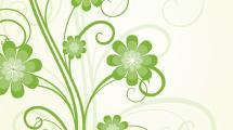 Fondo con ramo de flores verdes