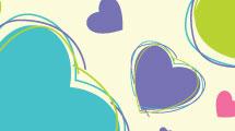 Fondo corazones multicolores