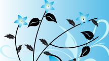Fondo de Flores Azul 2