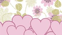 Fondo de flores y corazones