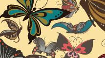 Fondo de mariposas multicolores
