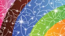Fondo de motivo floral arco iris