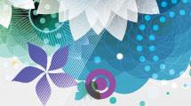 Fondo floral azul