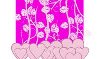 Fondo Floral con Corazones 2
