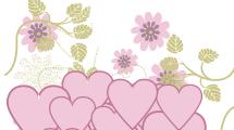 Fondo Floral con Corazones
